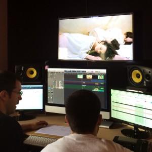 Gerard Pastor treballant en la banda sonora.