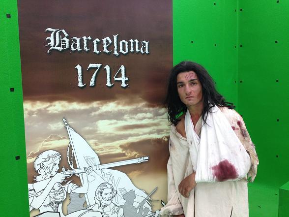 Mikel Iglesias (Polseres vermelles) interpreta un jove soldat a la pel.lícula Barcelona 1714